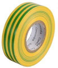 CONCORDIA TECHNOLOGIES AIT1920G/Y SINGLE  Insulation Tape Grn/Yel 19Mm X 20M